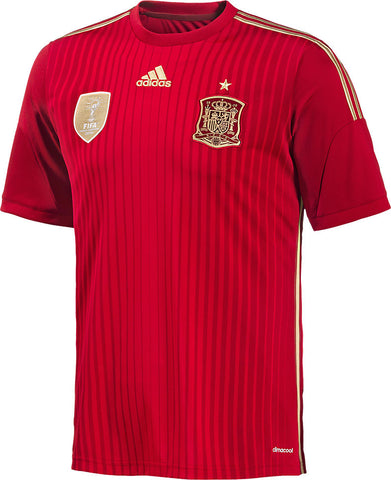 Spain Mens Jersey 2014 World Cup Adidas Home Red
