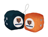 Chicago Bears Team Fuzzy Dice