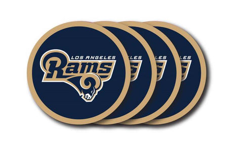 Los Angeles Rams 4 Piece Vinyl Coasters Set