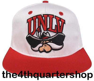 UNLV Runnin Rebels Snapback Retro 2 Tone NL Cap Hat White Red