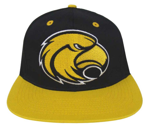 Southern Mississippi Golden Eagles Snapback Logo Retro Cap Hat Black Yellow
