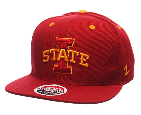 Iowa State Cyclones Snapback Zephyr Z11 Cap Hat Red