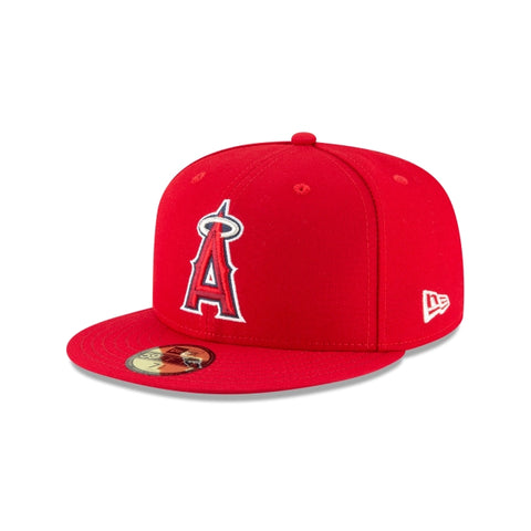 Anaheim Angels Fitted New Era 59Fifty On-Field Red Cap Hat
