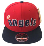 Anaheim Angels American Needle Flynn Snapback Cap Hat Red Navy