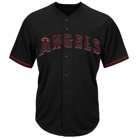 Los Angeles Angels Mens Jersey Majestic Pop Fashion Black