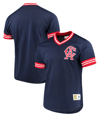 California Angels Mens Mitchell & Ness V Neck Mesh Jersey