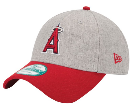 Anaheim Angels Velcro New Era 9Forty Adjustable The League Heather Cap Hat
