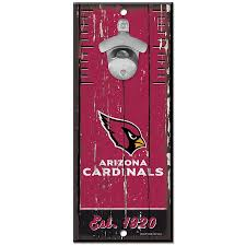 Arizona Cardinals 5X11 Wood Bottle Opener Sign