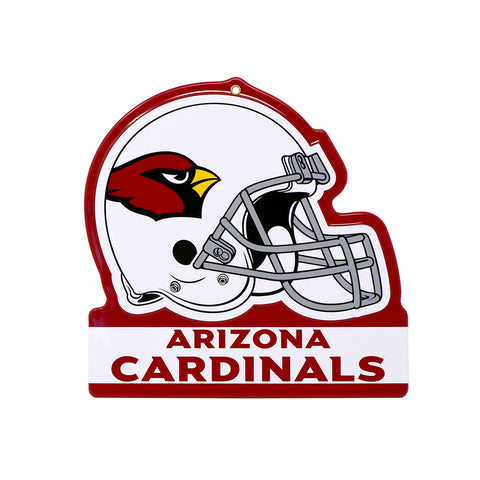 "Arizona Cardinals Embossed Metal Helmet Sign, 8"" x 8"""