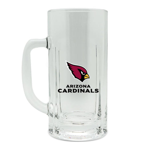 Arizona Cardinals 20oz Heavy Duty Glass Kraft Mug