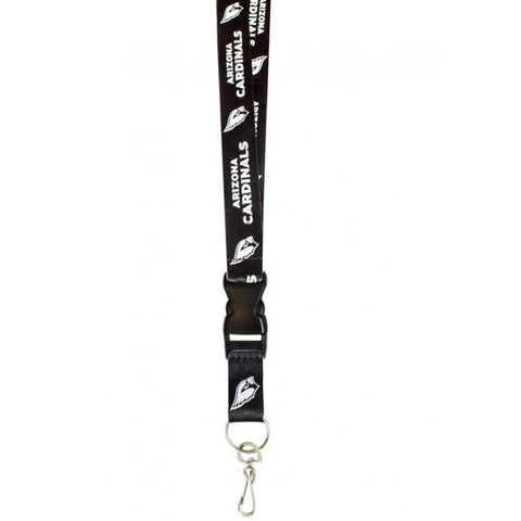Arizona Cardinals Keychain Long Lanyard Black