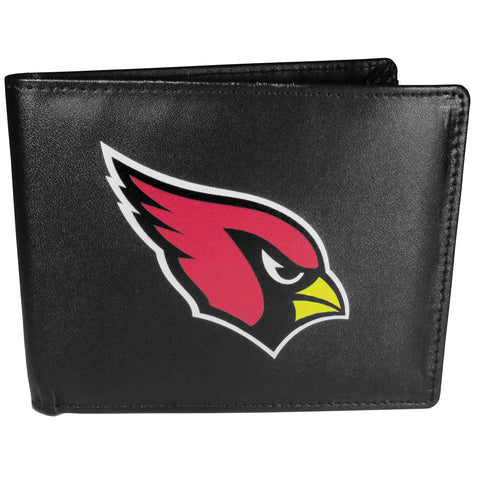 Arizona Cardinals Mens Embroidered Leather Bi-fold Wallet