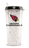 Arizona Cardinals Crystal Freezer 16oz Travel Tumbler