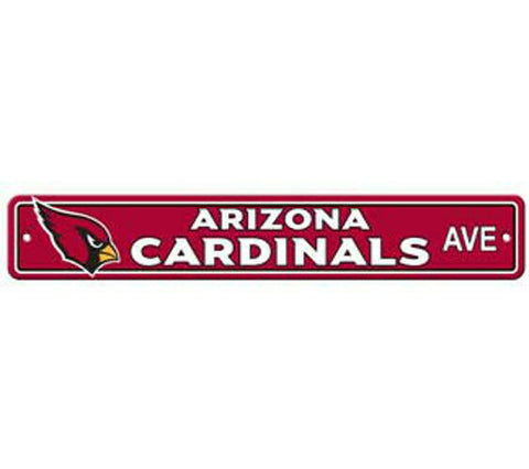 Arizona Cardinals AVE Bar Home Decor Plastic Street Sign