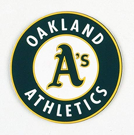 Oakland Athletics 4 Piece Vinyl Coasters Set