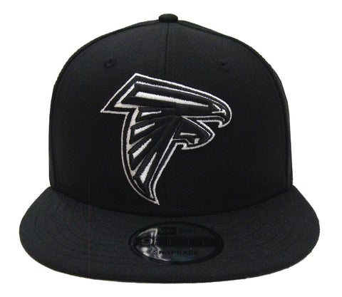 Atlanta Falcons Snapback New Era 9FIFTY Black White Logo Hat Cap