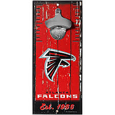 Atlanta Falcons 5x11 Wood Bottle Opener Sign