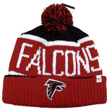 Atlanta Falcons Beanie Calgary Pom Top Cuff Knit Hat Black Red
