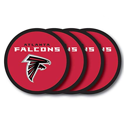 Atlanta Falcons 4 Piece Vinyl Coasters Set
