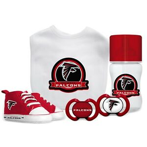 Atlanta Falcons Baby Essentials 5 Piece Infant Gift Set New
