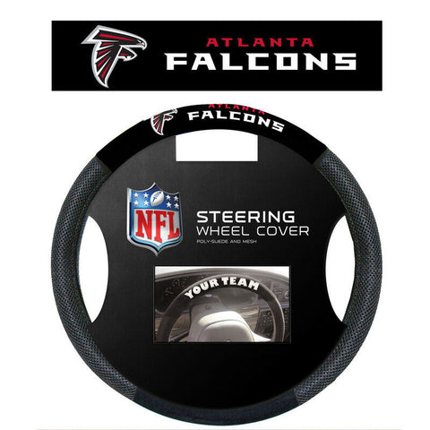 Atlanta Falcons Black Poly-suede & Mesh Steering Wheel Cover