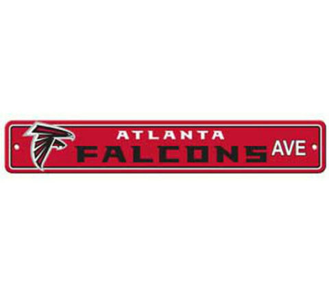 Atlanta Falcons AVE Bar Home Decor Plastic Street Sign