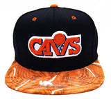 Cleveland Cavaliers Snapback Mitchell & Ness Team Color Stroke Cap Black Orange