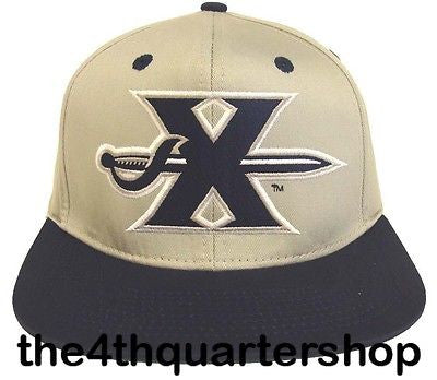 Xavier University Musketeers Snapback Retro 2 Tone Old Sword Cap Hat Grey Navy