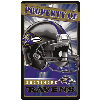 Baltimore Ravens Bar and Home Decor Property of Sign