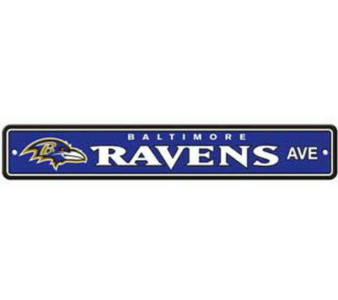 Baltimore Ravens AVE Bar Home Decor Plastic Street Sign
