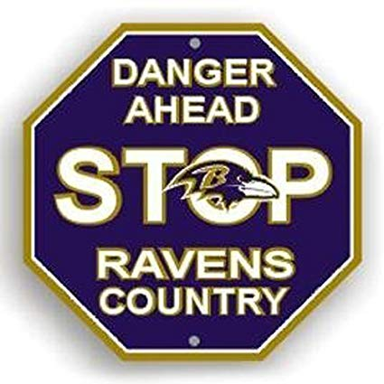 Baltimore Ravens Bar Home Decor Plastic Stop Sign