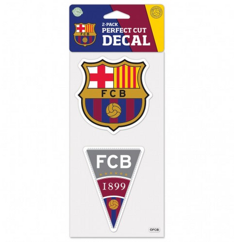 FC Barcelona Perfect Cut Decal 2 Pack