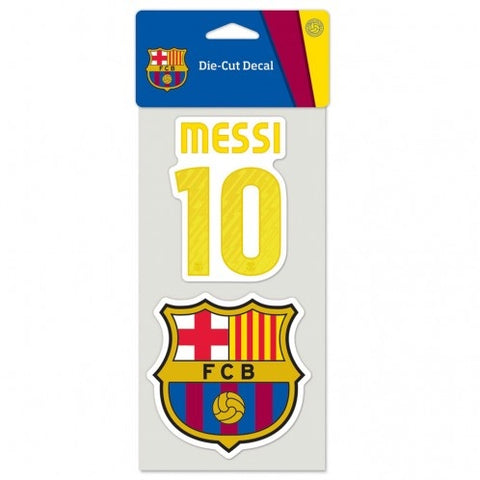 FC Barcelona Die Cut Decal 2 Pack Messi #10