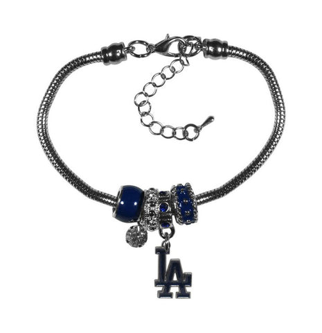Los Angeles Dodgers Bracelet Womens Euro Bead
