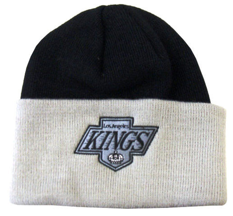Los Angeles Kings Beanie Embroidered Fold Cap Black Grey