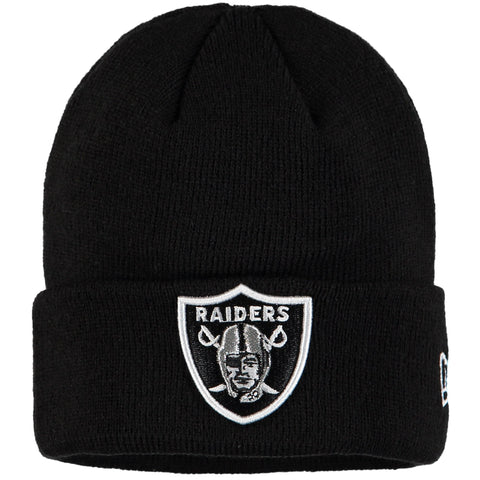 Oakland Raiders Beanie New Era Gridiron Cuffed Knit Hat Black