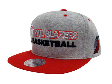 best sneakers 97091 5a86a Portland Trail Blazers Snapback Mitchell   Ness Heather Jersey Cap Grey Red
