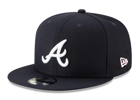 Atlanta Braves Snapback New Era 9Fifty Navy Cap Hat