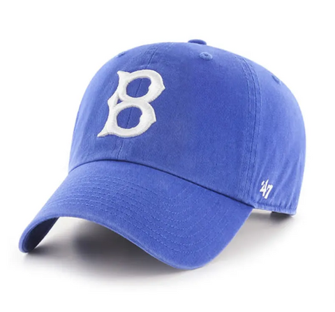 Brooklyn Dodgers Strapback '47 Brand Clean Up Adjustable Cap Hat Blue
