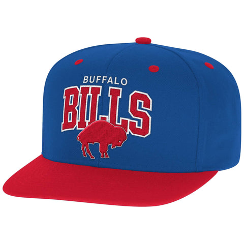 Buffalo Bills Snapback Mitchell & Ness Block Cap Blue Red