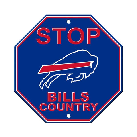 Buffalo Bills Bar Home Decor Plastic Stop Sign