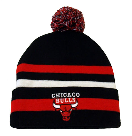 Chicago Bulls Beanie NBA Free Throw Embroidered Pom Fold Cap Hat