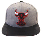 Chicago Bulls Snapback New Era ORIGINAL FIT Blend Beat Cap Hat Wool Leather
