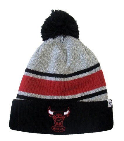 997bce29 Chicago Bulls Beanie 47 Brand Oatmeal Pom Top Cuff Knit Hat