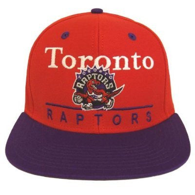 Toronto Raptors Snapback Dash Retro Cap Hat Red Purple