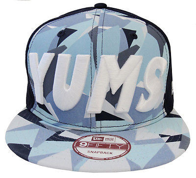 Yums Life Snapback New Era 9Fifty Bold Cap Hat Crystal Camo Blue