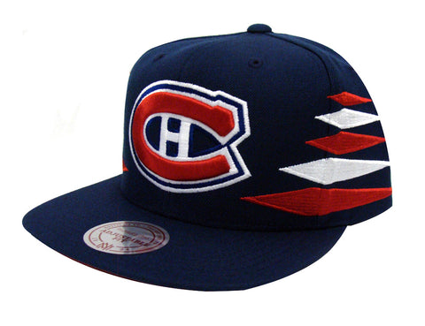 Montreal Canadiens Snapback Mitchell & Ness Solid Diamond Cap Hat Navy