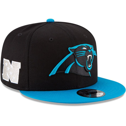 Carolina Panthers Snapback New Era Baycik Cap Hat Black Blue M/L