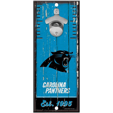 Carolina Panthers 5x11 Wood Bottle Opener Sign