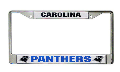 Carolina Panthers Licensed Plate Chrome Frame Cover